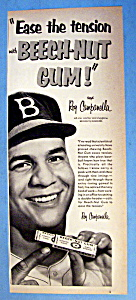 Vintage Ad: 1952 Beech Nut Gum with Roy Campanella (Image1)