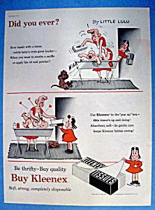 Vintage Ad: 1954 Kleenex Tissue with Little Lulu (Image1)
