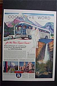 1940 Greyhound Bus Lines with Greyhound Bus (Image1)