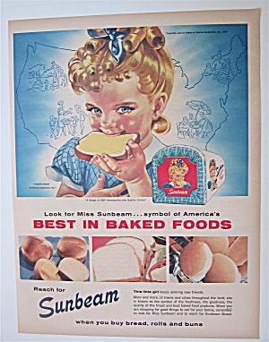 1957 Sunbeam Bread with Miss Sunbeam Eating Bread (Image1)