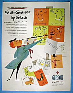 Vintage Ad: 1954 Studio Greetings By Gibson (Image1)