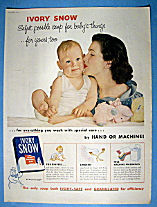 Vintage Ad: 1954 Ivory Snow (Image1)