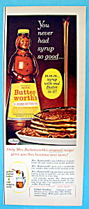 Vintage Ad: 1963 Mrs. Butterworth's Syrup