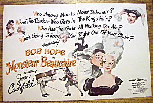 1946 Monsieur Beaucaire with Bob Hope & Joan Caulfield (Image1)