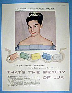 Vintage Ad: 1958 Lux Soap With Pier Angeli