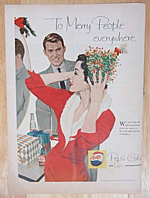 1958 Pepsi Cola (Pepsi) with Woman Putting on a Hat (Image1)