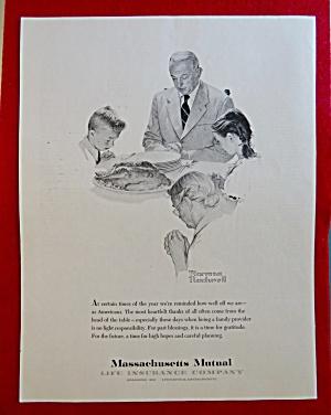 1960 Massachusetts Mutual Insurance By Norman Rockwell (Image1)
