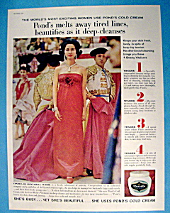 Vintage Ad: 1960 Pond's Cold Cream w/ Condesa (Image1)
