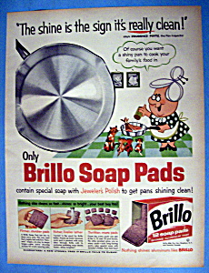 Vintage Ad: 1960 Brillo Soap Pads (Image1)