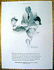 1961 Massachusetts Mutual Insurance By Norman Rockwell (Image1)