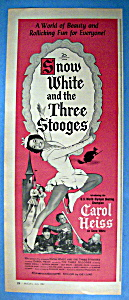 Vintage Ad: 1961 Snow White & The Three Stooges