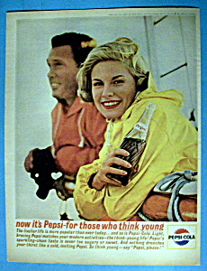 1963 Pepsi Cola (Pepsi) W/man & Woman On A Boat