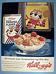 Vintage Ad: 1963 Kellogg's Frosted Flakes W/ Tony Tiger