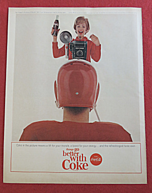 1964 Coca Cola (Coke) With Woman Taking A Picture
