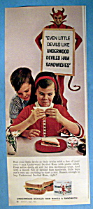 1963 Underwood Deviled Ham w/Girl Eating a Sandwich (Image1)
