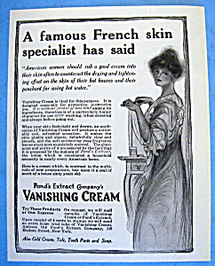 Vintage Ad: 1914 Pond's Vanishing Cream (Image1)