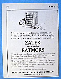 Vintage Ad: 1916 Zatek Eatmors (Image1)