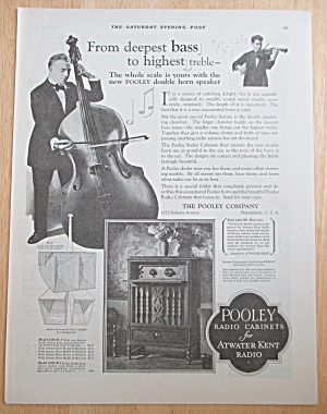 1927 Pooley Radio Cabinets With Man Playing Cello