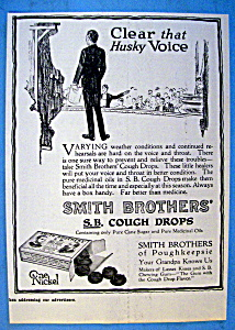 Vintage Ad: 1916 Smith Brothers Cough Drops (Image1)