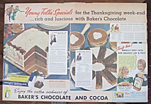 1937 Baker's Chocolate w/ Harvest Chocolate Layer Cake (Image1)