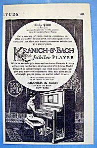 Vintage Ad: 1914 Kranich & Bach Jubilee Player (Image1)