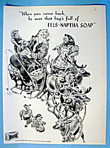 Vintage Ad: 1949 Fels Naptha Soap with Santa Claus (Image1)