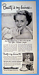 Vintage Ad: 1949 Sweetheart Soap with Alma Woods (Image1)