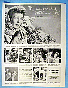 1949 Jergens Lotion With Evelyn Keyes