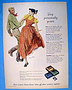 Vintage Ad: 1950 Kotex Sanitary Napkins (Image1)