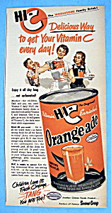 Vintage Ad: 1950 Hi C Orange Ade