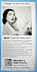 Vintage Ad: 1950 Woodbury Cold Cream w/Rosalind Russell (Image1)