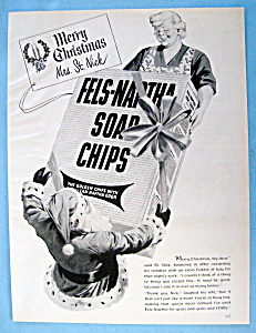 Vintage Ad: 1950 Fels Naptha Soap Chips w/ Santa Claus (Image1)