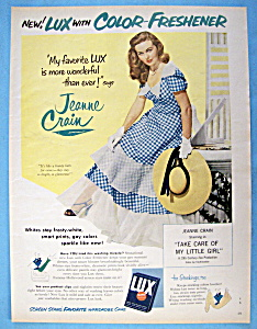1951 Lux Flakes W/ Jeanne Crain (Take Care Of My Girl)