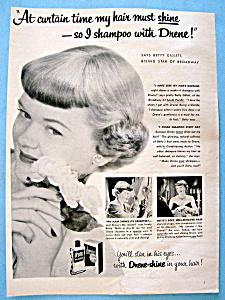 Vintage Ad: 1951 Drene Shampoo with Betty Gillett (Image1)