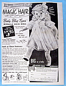 Vintage Ad: 1951 Baby Blue Eyes Miracle Skin Doll (Image1)