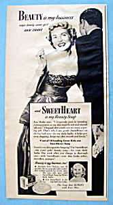 Vintage Ad: 1951 Sweetheart Soap with Ann Drake (Image1)