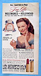 1951 Tru-Glo Liquid Make-Up (Westmore) w/Jeanne Crain (Image1)