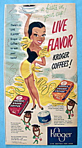 1951 Kroger Coffee with Woman Holding a Cup (Image1)
