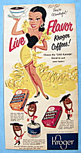 1951 Kroger Coffee with Lovely Woman (Image1)