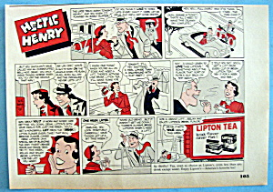 Vintage Ad: 1951 Lipton Tea With Hectic Henry