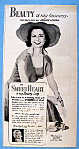 Vintage Ad: 1951 Sweetheart Soap with Paulette Hendrix (Image1)