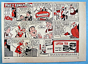 Vintage Ad: 1951 Lipton Tea with Phil's Family (Image1)