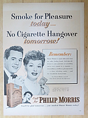 1952 Philip Morris with Desi Arnaz & Lucille Ball (Image1)