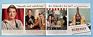 Vintage Ad: 1951 Schenley Whiskey With Claude Rains