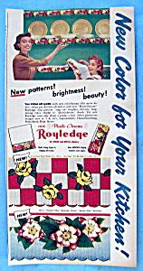 Vintage Ad: 1952 Royledge Shelf Lining Paper (Image1)
