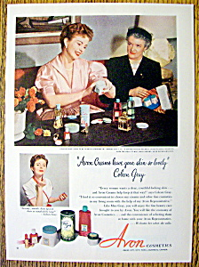 Vintage Ad: 1952 Avon Cosmetics with Coleen Gray (Image1)