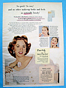 Vintage Ad: 1952 Max Factor Pan Stik with Piper Laurie (Image1)
