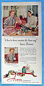 Vintage Ad: 1952 Avon Cosmetics With Irene Dunne