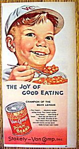 Vintage Ad: 1953 Van Camp Pork & Beans (Image1)