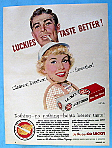 Vintage Ad: 1953 Lucky Strike Cigarettes (Image1)